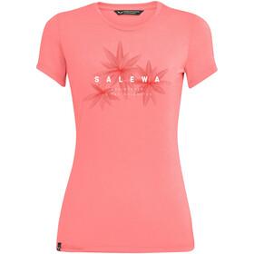 SALEWA Lines Graphic Dry T-Shirt Women, różowy